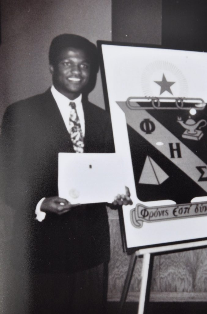 Chapter5 Induction into the Phi Eta Sigma National Honors Society in 1995