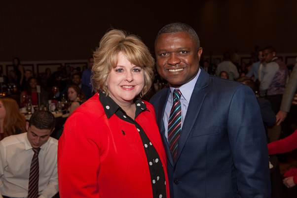 Chapter6 With Dr. Lori Rice-Spearman at a graduation event in 2017