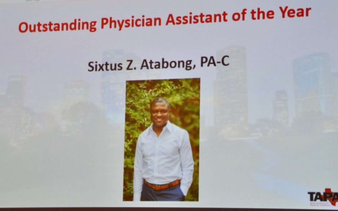 Sixtus Atabong named 2019 Outstanding PA of The Year by TAPA