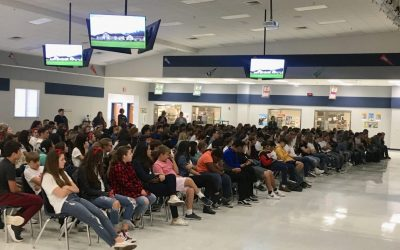 Sixtus Speaks to Students at Frenship Heritage Middle School